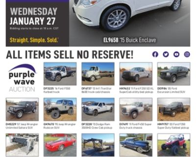 January 27 vehicles and equipment auction