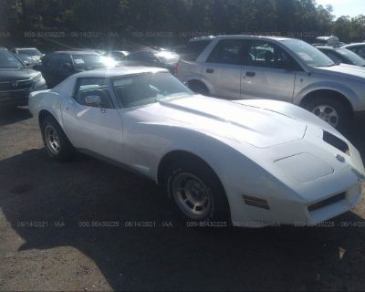 Salvage White 1976 Chevrolet Corvette