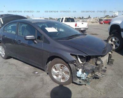 Salvage Gray 2014 Honda Civic Sedan