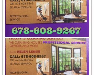 WE CLEANING HOUSES .PROFETIONAL .FOR ANY QUESTION PLEASE CALL 678-608-9267