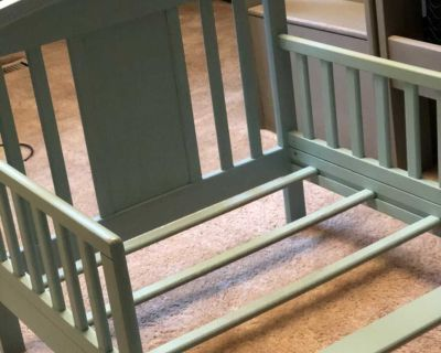 Refinished SOLID WOOD Toddler Bed, Distressed