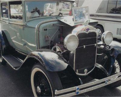 1930 Ford Model A All-Steel Barn Find Original Restored Sedan Stock