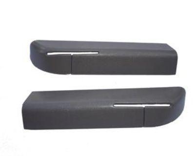 90 91 92 93 Mustang Conv Seatbelt Bezels Titanium Gray