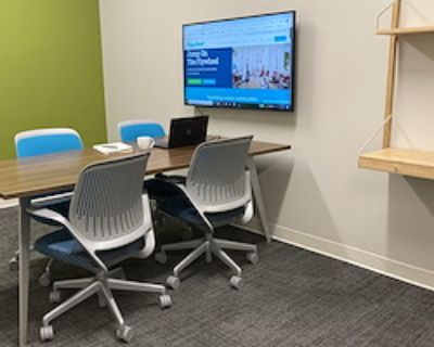 Private Meeting Room for 5 at Flywheel Coworking at the Cabarrus Center