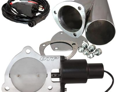 """Qtp Qtec35cps 3.5"""" 3-1/2"""" Electric Exhaust Valve & Stainless Cutout Y-pipe"""