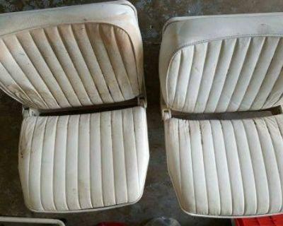 Original Folding Bucket Seats For The Omc 140 (johnson Evinrude)