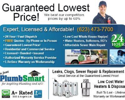 Licensed LOW COST Plumber + FREE Service Calls + FREE Plumbing Repair Estimates