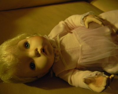 Ceramic and Fabric Baby Doll