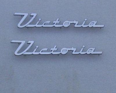 55 56 1955 1956 Ford Victoria Chrome Door Emblem New