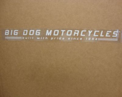Big Dog Motorcycles Car/ Truck Window Decal Sticker Pitbull Chopper Mastiff K-9
