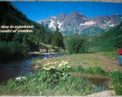 """""""Take Time to Experience the Wonder....."""" - Vtg Motivational Poster 1988 - 14"""" x 21"""" Unframed"""