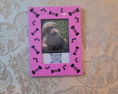 Pink Dog Theme Picture Size Frame