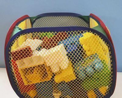 Lego Assortment and Rainbow Bag