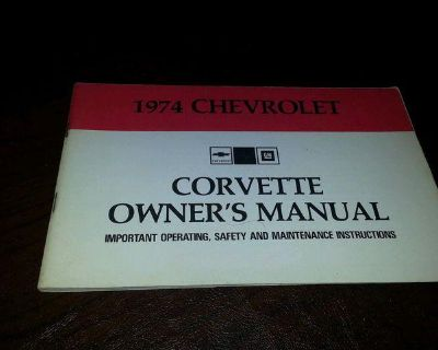 Original Nos 1974 Corvette Owners Manual - First Edition