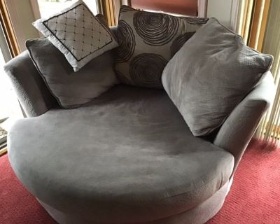 Comfy Chair - Round,Grey