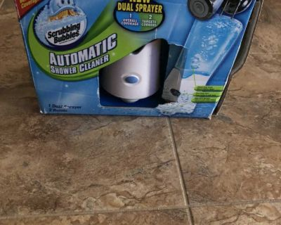 Scrubbing Bubbles Automatic Shower Cleaner Dual Sprayer & 2 Refills new