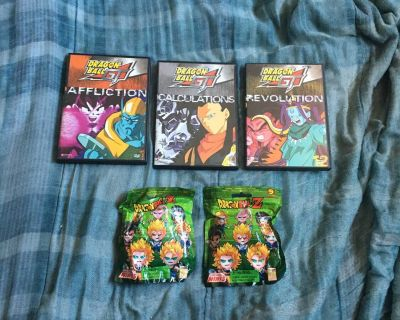 Lot Of Dragon Ball DVDs And Figures