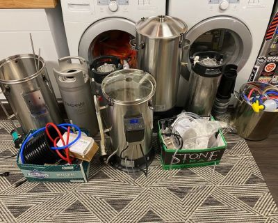 For Sale - Lot of Brewing equipment including 2X Grainfather Connects and Conical Fermenter