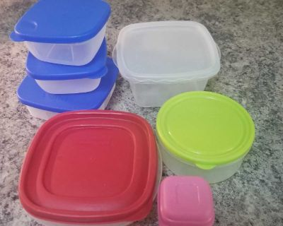 Food storage container lot, price is for all