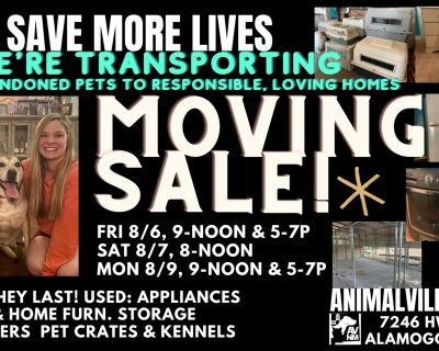 MOVING SALE: PET SUPPLIES OFFICE FURNITURE