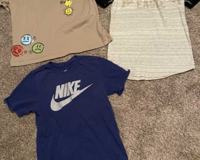 Men s American eagle and Nike small shirts