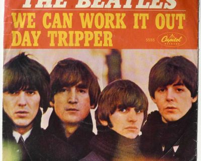 """""""We Can Work It Out"""" picture sleeve (Just the sleeve-NO VINYL"""