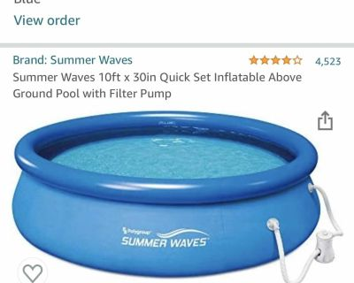 10ft x 30inch Inflatable Pool With Pump