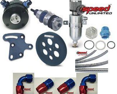 Moroso 22640-k 3 Vane Vacuum Pump System Sb Chevy