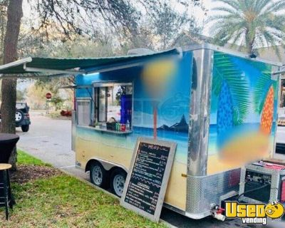 Mobile Food Concession Trailer 2018 Rock Solid Cargo 8' x 12' Kitchen