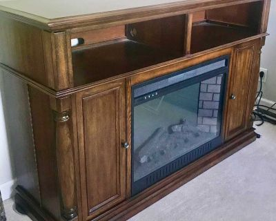 Media Fireplace (with remote) TV Stand