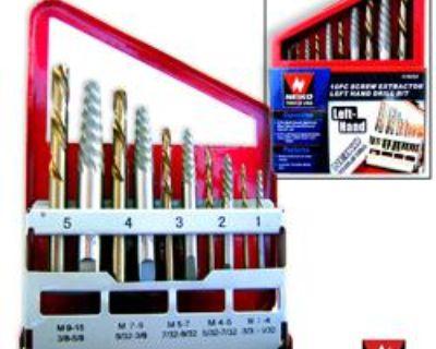 10pc Screw Extractor Left Hand Drill Bit Easy Out Set Fix Broken Screws Easily
