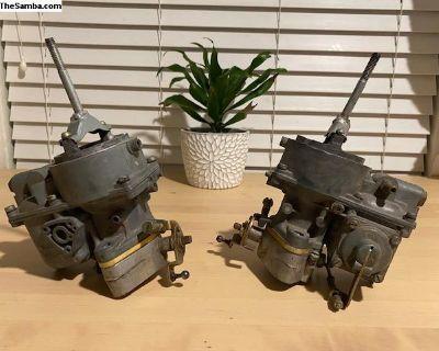 Vintage Kadron Solex 40/44 EIS Dual Carbs + Manif