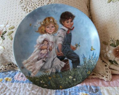 """Jack And Jill"""" 8th Plate Mother Goose John McClelland Limited Edition Reco 1986"""