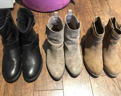 H&M grey short boots size 7