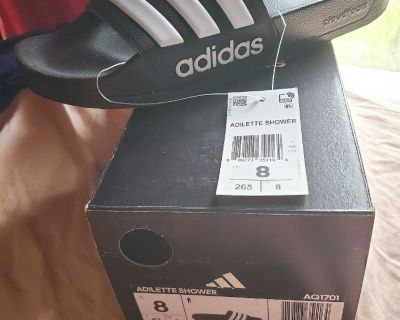 New Adidas slip on slippers sandals