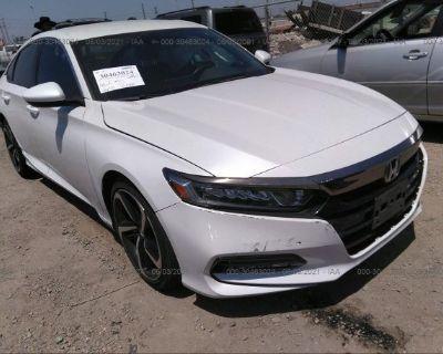 Salvage White 2019 Honda Accord Sedan