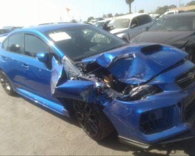 Salvage Blue 2019 Subaru Wrx