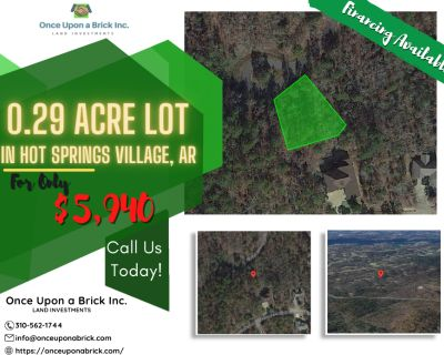 0.29 Acres for Sale in Hot Springs Village, AR