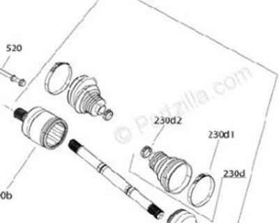 Left & Right Rear Complete Axle - (OEM) 2019 Can Am Outlander / Renegade