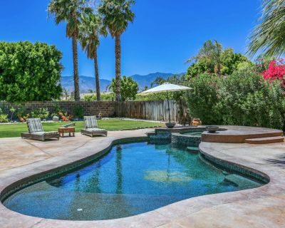 Poolside Sanctuary with Hot Tub, Firepit & Huge Patio - Cathedral City