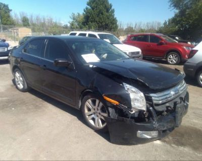 Salvage Black 2009 Ford Fusion