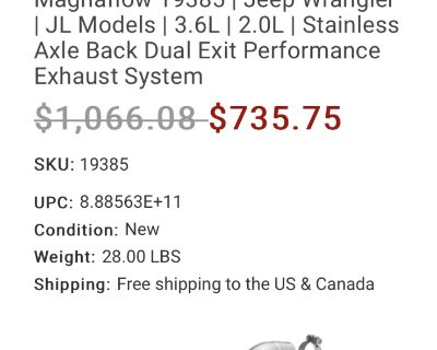 Massachusetts - Magnaflow Polished axle back exhaust system
