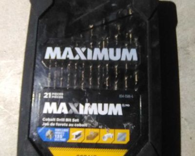 never send maximum drill bits 21 Pieces by