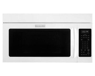 "KitchenAid KHMS2040BWH Over The Range Microwave Hood 30"" White"