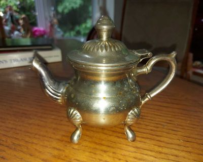 Small vintage Middle-Eastern silver-plated teapot , needs cleaning