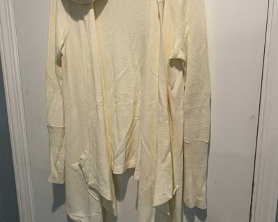 Super cute Anthropologie thermal cardigan with hood. Size medium. Like new!