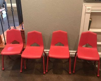 Free red kid chairs