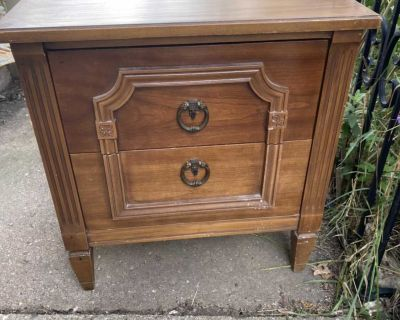 Solid old night stand or end table