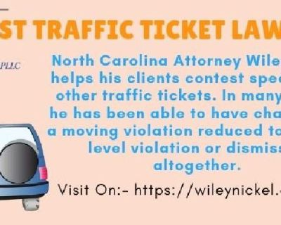 Traffic Ticket Lawyer | Raleigh Traffic Citation Lawyer | Law Offices of Wiley Nickel