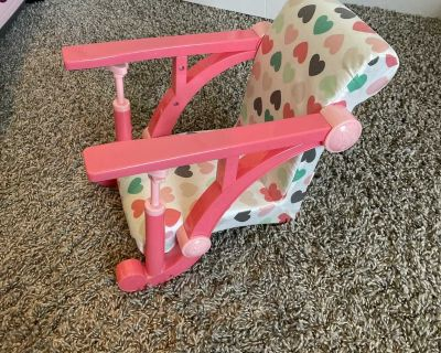 Our Generation baby seat (clips to counter)